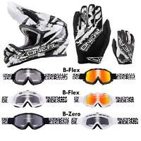 ONeal 3Series Shocker SET MX Moto Cross Helm Brille Enduro Motorrad Offroad ATV