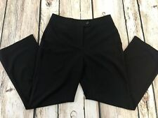 Laura Ashley 10 Petite Black Pants Career Trousers Stretch Straight Belly Panel