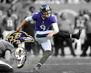 Baltimore Ravens JUSTIN TUCKER Unsigned Spotlight Photo 8x10 #1