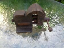 """vintage small 2"""" jewelers bench vise machinist gunsmith solid base anvil surface"""