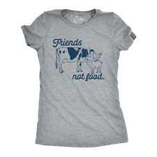 Womens Friends Not Food T shirt Funny Sarcastic Plant Gardening Novelty Tee