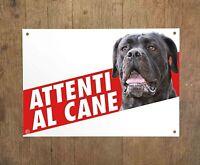 CANE CORSO 2 Attenti al cane Targa cartello metallo Beware of dog sign metal