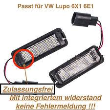 2x TOP LED SMD Kennzeichenbeleuchtung VW Lupo 6X1 6E1 (VWP)