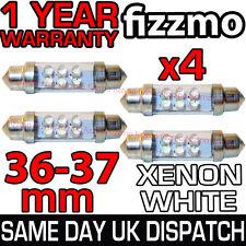4x 36mm matrícula Luz Interior Festoon bombilla 4 Led Xenon Blanco 239 272 C5w