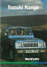 Suzuki 1985 UK Market Foldout Sales Brochure Alto Swift SJ410 ST90