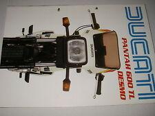 DUCATI  600 TL  DESMO   PANTAH  (depliant-prospekt-brochure)