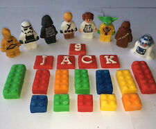 Comestible Fondant ladrillos Lego inspirado Star Wars & Cumpleaños Pastel Topper