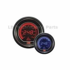 60mm Stealth Blue / Red LCD Digital Oil Temperature Gauge For Evo Subaru Nissan