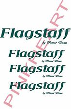 4 Flagstaff RV kit sticker decal graphics trailer camper rv Small made in the US