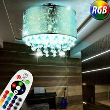 Luz De Techo LED Cristal Colgadura Salón Lámpara Regulable RGB Control Remoto
