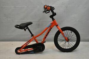 "2016 Trek Precaliber 16"" Kids Bike Small SS Single Speed Coaster Orange Charity!"