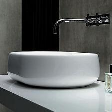 Lavabo a bacinella design Azzurra Nuvola 60 cm bianco ceramica appoggio su piano