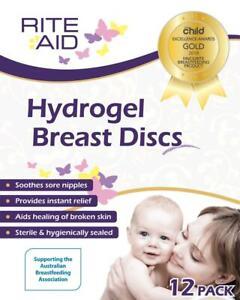 Rite Aid Hydrogel Breast Discs (x12) - Helps Heal Cracked Sore Nipples