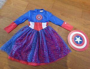 Fancy dress Super Hero Marvel, Captain America, Age 8-10 Years