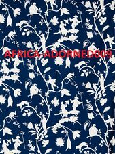 STROHEIM ROMANN CHINOISERIE SILHOUETTES COTTON FABRIC 10 YARDS BLUE WHITE