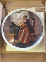 Vintage Knowles Mother's Day 1980 Norman Rockwell 07447 Plate Box Papers