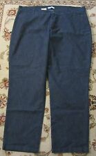 RIDERS BY LEE DARK BLUE PLAIN FRONT STRAIGHT LEG JEANS SIZE 26W NWT