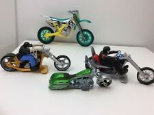 2008 Hot Wheels Motorcycles Mad Dog Sled, Bad Badger, Rock'n Road Lot Of 4
