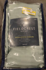 NEW Fieldcrest Satin-Stitch Damask 500 Thread Ct KING Pillowcase Set Smoke Green