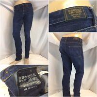 Brooks Brothers Jeans 32x31 Dark Cotton Lycra Straight Leg Mint YGI A9-586