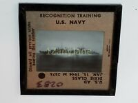 0283 PHOTO GLASS SLIDE PLANE/SHIP Military US Ad Dixie Class 1944 M 2576