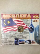 (JC) 46th Malaysia Independence medallion Coin Card 2003