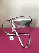 Super Glossy Boden Silver Leather Cross Body Bag, Brand New RRP £110 BNWT