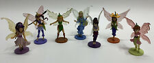 Disney Tinkerbell Friends Fairies Pvc Figure/Cake Topper Lot of 7 Figures 3.5""
