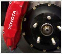 4 Pegatinas sticker aufkleber caliper brake Toyota pinzas freno 8 cm