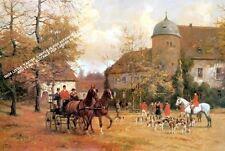 The Meet by Georg Carl Koch Artwork by Selby Prints