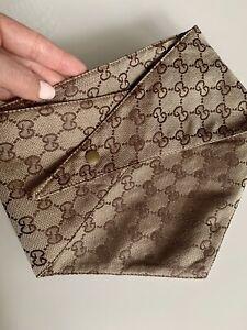 Luxury Fashionable Designer Dog Bandana Triangular Scarf Clip Support L SIZE