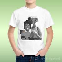 T-Shirt Bambino Ragazzo Alieno E.T. Abbraccia Michael Jackson  Idea Regalo