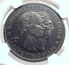 1900 French US Revolutionary War HERO LAFAYETTE Silver Dollar Coin NGC i73346