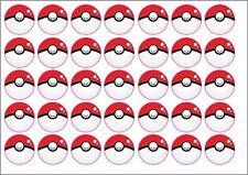 35x Pokemon GO Pokeball Bottle Cap Stickers - Party Bag Fillers - Decor & More!