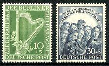 Berlin 1950 Berlin Philharmonic Orchestra MNH Semi-Postals Sc 9NB4 to 9NB5 Set#2