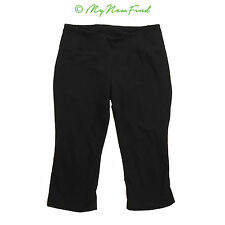ZELLA NORDSTROM MINI FLARE BOOTY CAPRI YOGA ATHLETIC PANTS BLACK SIZE 6 B75