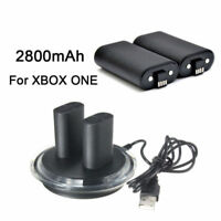 For XBOX ONE Controller Play Charging Cable + 2X Rechargeable Battery Pack US