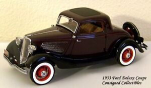 Danbury Mint 1933 FORD DELUXE COUPE 1/24 MIB!