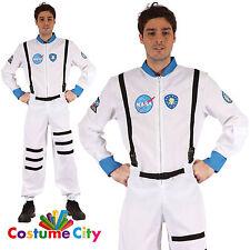 Adults Mens NASA Astronaut Spaceman Space Flight Suit Fancy Dress Party Costume