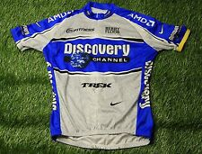 CYCLING SHIRT JERSEY MADE IN ITALY DISCOVERY CHANNEL NIKE TREK SIZE L