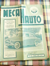 Revue mecanauto de 1957  N° 36   les arondes 1300