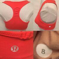 Lululemon Women Sports Bra Run Yoga Size 8 Fits Size 6 Ruched Back Mesh Lining