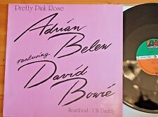 "David Bowie with Adrian Belew Pretty Pink Rose 3 Tracks 12"" Single Atlantic"