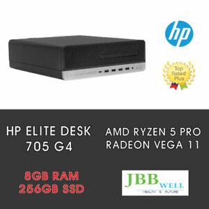HP EliteDesk 705 G4 SFF Desktop AMD Ryzen 5 Pro 2400G, 8GB , 256GB SSD