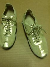 Cole Hahn Ladies Size 7 Gold Suede Nike Air Athletic Shoe With Turquoise Trim
