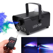 500W Smoke Fog Machine RGB LED DJ Party Stage Light Fog Machine + Controller