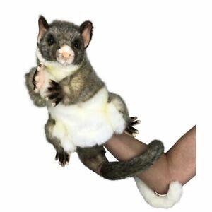 HANSA Possum Hand Puppet. Soft plush toy. Possum Puppet. Educational toy.