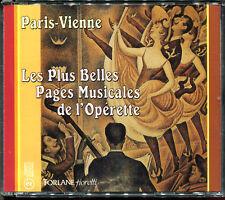 LES PLUS BELLES PAGES MUSICALES DE L'OPERETTE - PARIS VIENNE - COFFRET 2 CD