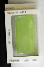 LIME GREEN Silicone Phone Case Cover For iPhone 5 Lightweight Protection NEW