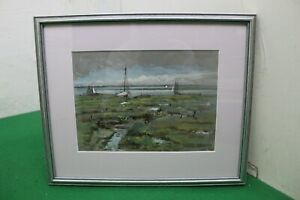 Watercolour Painting depicting West Mersea by George Charles Francis (1860-1940)